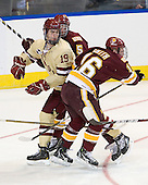 Chris Casto (Duluth - 5), Chris Kreider (BC - 19), Tim Smith (Duluth - 16) - The Boston College Eagles defeated the University of Minnesota Duluth Bulldogs 4-0 to win the NCAA Northeast Regional on Sunday, March 25, 2012, at the DCU Center in Worcester, Massachusetts.