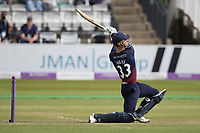 Dane Vilas of Lancashire CCC puts all his effort into a big hit during the closing overs during Middlesex vs Lancashire, Royal London One-Day Cup Cricket at Lord's Cricket Ground on 10th May 2019