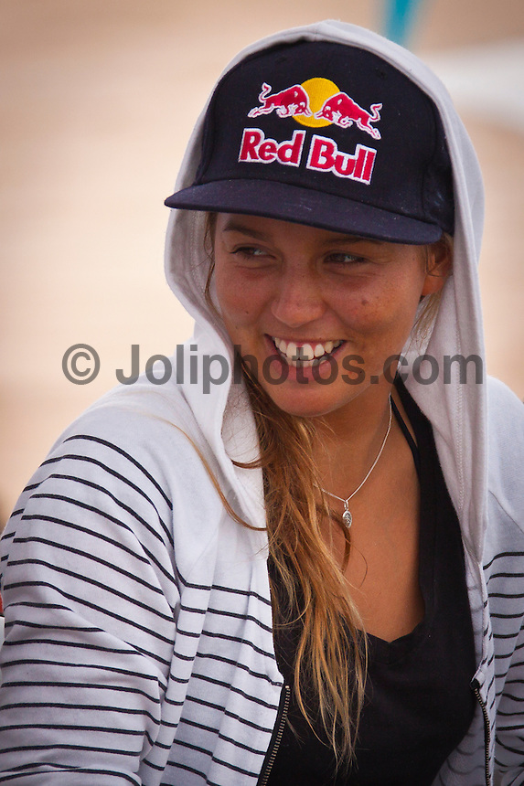Sally Fitzgibbons (AUS).  LAGIDO, Peniche/Portugal (Thursday, October 7, 2010) -Round 1 of the Rip Curl Women's Pro Portugal was  called ON this morning, with the opening heat commencing at 10:30am at the backup site of Lagido. .Event No. 6 of 8 on the 2010 ASP Women's World Tour, the Rip Curl Women's Pro Portugal was greeted with solid surf today with event organizers opting to relocate to enjoy more favourable winds.. The Rip Curl Pro Portugal will run from October 7 through 18, 2010..Photo: joliphotos.com