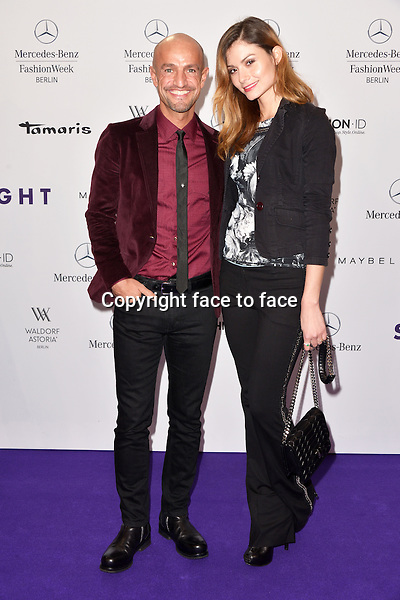 Peyman Amin and Miriam Mack attending the STYLIGHT Fashion Blogger Awards fashion show during the Mercedes-Benz Fashion Week Autumn/Winter 2013/14 Berlin in Berlin 13.01.2014. Credit Timm/face to face