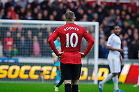 Sunday, 23 November 2012<br /> <br /> Pictured: Wayne Rooney of Manchester United<br /> <br /> Re: Barclays Premier League, Swansea City FC v Manchester United at the Liberty Stadium, south Wales.