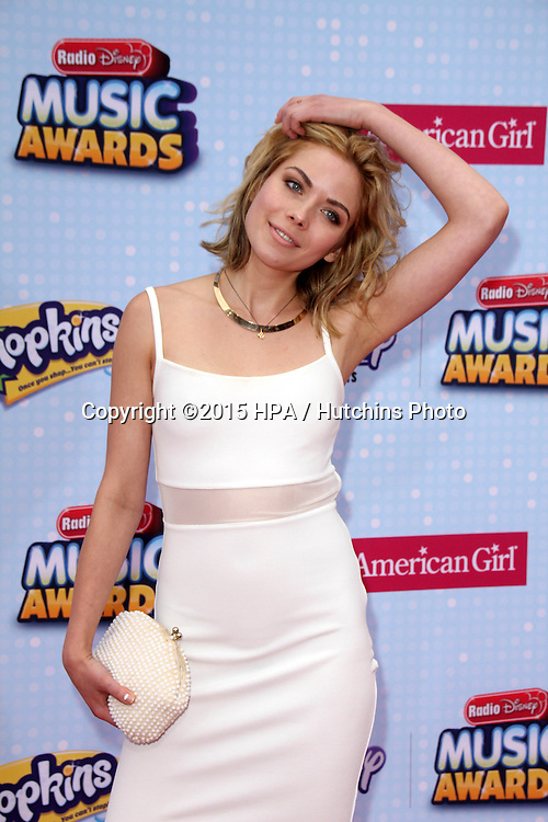 LOS ANGELES - FEB 25:  Grace Phipps at the Radio DIsney Music Awards 2015 at the Nokia Theater on April 25, 2015 in Los Angeles, CA
