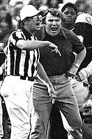 Raider coach John Madden & ref. (1970 photo/Ron Riesterer)