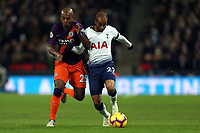 Fernandinho of Manchester City and Lucas of Tottenham Hotspur during Tottenham Hotspur vs Manchester City, Premier League Football at Wembley Stadium on 29th October 2018