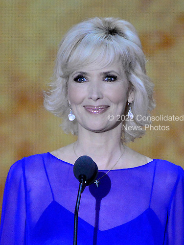 Actress and Radio Personality Janine Turner makes remarks at the 2012 Republican National Convention in Tampa Bay, Florida on Tuesday, August 28, 2012.  .Credit: Ron Sachs / CNP.(RESTRICTION: NO New York or New Jersey Newspapers or newspapers within a 75 mile radius of New York City)
