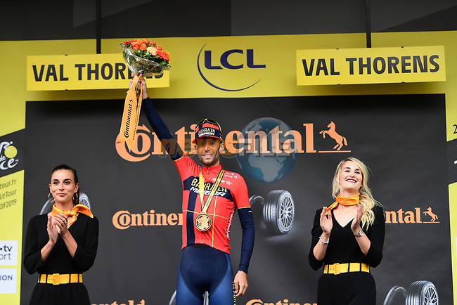 Vincenzo Nibali (ITA) Bahrain-Merida wins Stage 20 of the 2019 Tour de France running 59.5km from Albertville to Val Thorens, France. 27th July 2019.<br /> Picture: ASO/Alex Broadway | Cyclefile<br /> All photos usage must carry mandatory copyright credit (© Cyclefile | ASO/Alex Broadway)