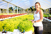 Sarah Marchand, agricultrice à La Tamoa