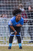 Paisley Billings (E4 Tattoo Fixers) during the SOCCER SIX Celebrity Football Event at the Queen Elizabeth Olympic Park, London, England on 26 March 2016. Photo by Andy Rowland.
