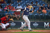 Pensacola Blue Wahoos outfielder Jesse Winker (23) at bat during a game against the Mississippi Braves on May 28, 2015 at Trustmark Park in Pearl, Mississippi.  Mississippi  defeated Pensacola 4-2.  (Mike Janes/Four Seam Images)