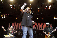 Singer Johnny van Zant, Guitar player Rickey Medlocke and Gary Rossington of Lynyrd Skynyrd during a concert at Citadel Music Festival held at Citadel Spandau in Berlin, Germany, 07.06.2012...Credit: Cliff/face to face /MediaPunch Inc. ***FOR USA ONLY*** /NORTEPHOTO.COM