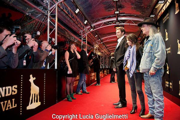 Utrecht, september 27, 2012.NFF Utrecht, Premiere Dark Blood.Florencia De Concilio,James Michael Taylor..Photo: Lucia Guglielmetti