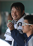 Hisashi Iwakuma (Mariners),<br /> JUNE 5, 2013 - MLB :<br /> Hisashi Iwakuma of the Seattle Mariners takes a drink in the dugout during the baseball game against the Chicago White Sox at Safeco Field in Seattle, Washington, United States. (Photo by AFLO)