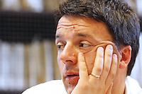 NAPOLI 12042013MATTEO RENZI INTERVIENE ALLA PRESENTAZIONE DEL LIBRO SU GIORGIO NAPOLITANO .FOTO CIRO DE LUCA