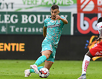 KORTRIJK , BELGIUM - AUGUST 03 : Massimo Bruno of Charleroi pictured during the Jupiler Pro League match day 2 between Kv Kortrijk and Sporting Charleroi on August 03 , 2019 in Kortrijk , Belgium . ( Photo by David Catry / Isosport )