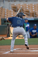 Seattle Mariners third baseman Joe Rizzo (8) during a Minor League Spring Training game against the Los Angeles Dodgers at Camelback Ranch on March 28, 2018 in Glendale, Arizona. (Zachary Lucy/Four Seam Images)