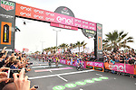 Elia Viviani (ITA) Quick-Step Floors wins Stage 2 of the 101st edition of the Giro d'Italia 2018 running 167km from Haifa to Tel Aviv, Israel. 5th May 2018.<br /> Picture: LaPresse/Massimo Paolone | Cyclefile<br /> <br /> <br /> All photos usage must carry mandatory copyright credit (&copy; Cyclefile | LaPresse/Massimo Paolone)