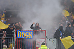 10.03.2018,  Millerntor-Stadion, Hamburg, GER, 2. FBL, 1.FC St.Pauli vs Eintracht Braunschweig im Bild Feature die Braunschweiger Fans zuenden Pyrotechnik Foto © nordphoto / Witke *** Local Caption ***