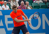 June 15th 2017, Nottingham, England; ATP Aegon Nottingham Open Tennis Tournament day 6;  Reilly Opelka of USA in action in his second round match against Marius Copil of Roumania