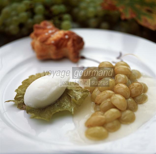 """Europe/France/89/Yonne/Saint Père sous Vezelay: Raisins en gelée - Recette de Marc Meneau à """"l'Espérance"""""""