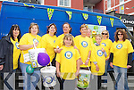 Bee For Battens: A bed push from Ballybunion to Asdee was held on Saturday last. Collecting donations were(l-r) Michelle Walsh, Maureen Stack, Theresa Carmody, Maureen Kelly, Eileen Moore, Sarah Moore, Siobhan Keane, Kathleen Carmody, with Sarah Moore and Bobby O'Keefe (front)