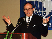 Mayor Rudolph Giuliani of New York, New York speaks at the Center for Migration Studies at Georgetown University in Washington, D.C. on March 20, 1997..Credit: Ron Sachs / CNP