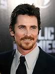 "WESTWOOD, CA. - June 23: Actor Christian Bale  arrives at the 2009 Los Angeles Film Festival's premiere of ""Public Enemies"" at the Mann Village Theatre on June 23, 2009 in Westwood, Los Angeles, California."