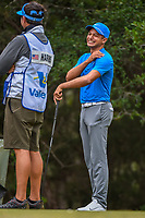 Julian Suri (USA) shares a laugh on the 14th tee during Round 3 of the Valero Texas Open, AT&amp;T Oaks Course, TPC San Antonio, San Antonio, Texas, USA. 4/21/2018.<br /> Picture: Golffile | Ken Murray<br /> <br /> <br /> All photo usage must carry mandatory copyright credit (&copy; Golffile | Ken Murray)