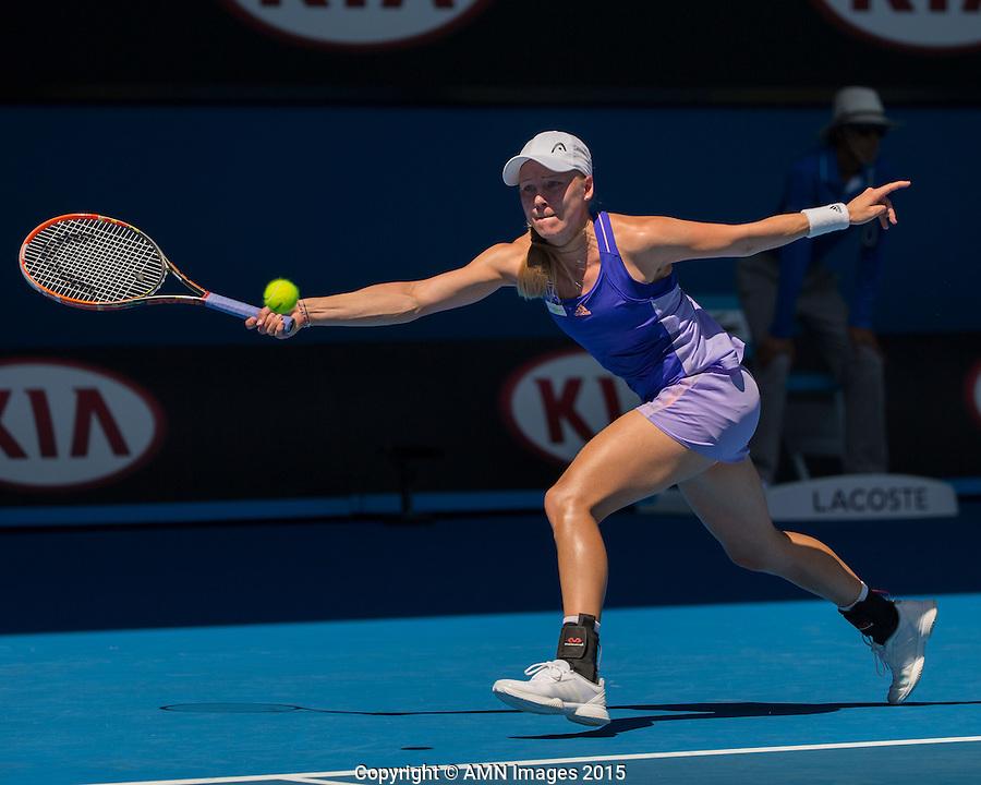 Johanna Larsson (SWE)<br /> <br /> Tennis - Australian Open 2015 - Grand Slam -  Melbourne Park - Melbourne - Victoria - Australia  - 22 January 2015. <br /> &copy; AMN IMAGES