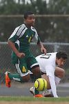 Palos Verdes, CA 02/07/12 - Daniel Razipour (Peninsula #17) in action during the Mira Costa vs Peninsula Boys Varsity soccer bay league game.