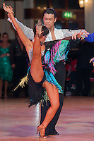 Tsuneki Masutani and Megumi Saito from Japan perform their dance during the Amateur Rising Stars Latin competition of the Blackpool Dance Festival that is the most famous event among dance competitions held in Empress Ballroom Wintergardens, Blackpool, United Kingdom. Thursday, 21. May 2009. ATTILA VOLGYI