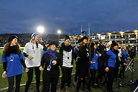 The Choir sings at half-time. Aviva Premiership match, between Bath Rugby and Northampton Saints on December 5, 2015 at the Recreation Ground in Bath, England. Photo by: Patrick Khachfe / Onside Images