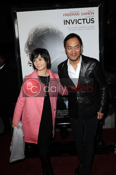 """Kaho Minami and Ken Watanabe<br /> at the """"Invictus"""" Los Angeles Premiere, Academy of Motion Picture Arts and Sciences, Beverly Hills, CA.  12-03-09<br /> David Edwards/Dailyceleb.com 818-249-4998"""