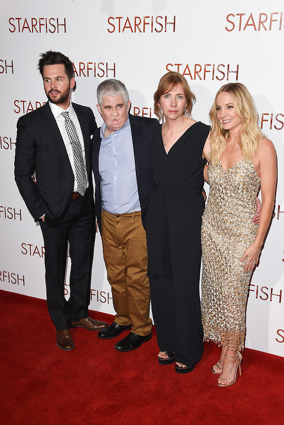 """Tom Riley, Tom Ray, Nicola Ray and Joanne Froggatt<br /> at the """"Starfish"""" UK premiere, Curzon Mayfair, London.<br /> <br /> <br /> ©Ash Knotek  D3190  27/10/2016"""