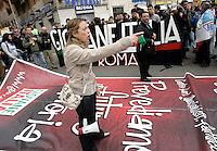 Il Ministro della Gioventu' Giorgia Meloni alla manifestazione del Popolo della Liberta' a Roma, 20 marzo 2010..Italian Youth Minister Giorgia Meloni takes part in the People of Freedom center-right party demonstration in Rome, 20 march 2010..UPDATE IMAGES PRESS/Riccardo De Luca