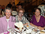 Phyllis Rooney, Olive Johnston and Ann Duff  pictured at the Daughters of charity dinner in An Grianan. Photo:Colin Bell/pressphotos.ie