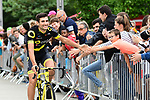 Direct Energie at the Team Presentations for the 105th Tour de France 2018 held on Napoleon Square in La Roche-sur-Yon, France. 5th July 2018. <br /> Picture: ASO/Alex Broadway | Cyclefile<br /> All photos usage must carry mandatory copyright credit (&copy; Cyclefile | ASO/Alex Broadway)