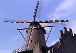 Europe, DEU, Germany, North Rhine Westphalia, Lower Rhine, Kalkar, Typical Windmill, Lohwindmuehle ....[ For each utilisation of my images my General Terms and Conditions are mandatory. Usage only against use message and proof. Download of my General Terms and Conditions under http://www.image-box.com or ask for sending. A clearance before usage is necessary...Material is subject to royalties. Each utilisation of my images is subject to a fee in accordance to the present valid MFM-List...Contact | archive@image-box.com | www.image-box.com ]