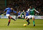 19.12.2018 Hibs v Rangers: Lassana Coulibaly shoots past Efe Ambrose
