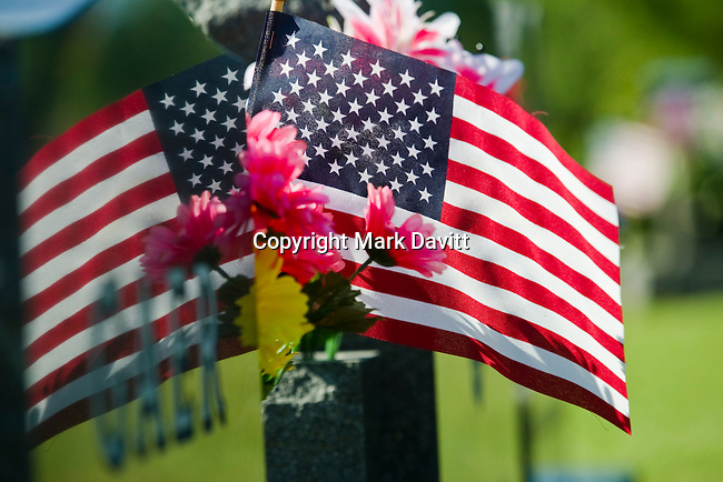 Families and friends decorated many of the graves for Memorial Day at the Indianola cemetery.
