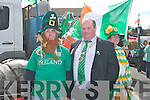 Frank Cronin with the Lord Mayor of Killorglin Paudie Cronin at the Killorglin St Patrick's Day parade on Saturday...