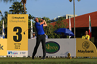 Robert Karlsson (SWE) on the 3rd tee during Round 1 of the Maybank Championship at the Saujana Golf and Country Club in Kuala Lumpur on Thursday 1st February 2018.<br /> Picture:  Thos Caffrey / www.golffile.ie<br /> <br /> All photo usage must carry mandatory copyright credit (© Golffile | Thos Caffrey)
