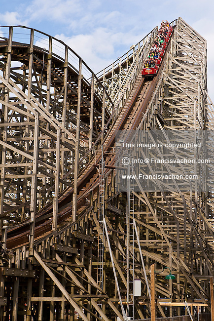 The Mean Streak roller coaster is pictured in Cedar Point amusement park in Sandusky, Ohio, Tuesday August 6, 2013.  Opened in 1870 and the flagship park of Cedar Fair Entertainment Company, Cedar Point is the second-oldest operating amusement park in the United States and features a world-record 72 rides including 16 roller coasters.