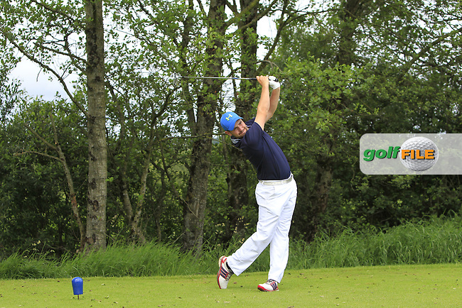 Declan Reidy (Co. Sligo) on the 14th tee during Round 3 of the 2016 Connacht Strokeplay Championship at Athlone Golf Club on Sunday 12th June 2016.<br /> Picture:  Golffile | Thos Caffrey