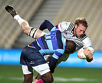 Action during a match between the Crusaders and French Barbarians at AMI Stadium on June 16th 2018 in Christchurch, New Zealand. Photo: Martin Hunter/ lintottphoto.co.nz