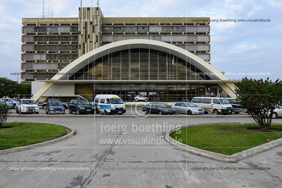 MOZAMBIQUE, Beira, Estação Ferroviária da Beira, railway station opened 1966 during portuguese colonial time , railway line to Tete and Zimbabwe / MOSAMBIK, Beira, Bahnhof, gebaut von 1963-66 in der portugiesischen Kolonialzeit