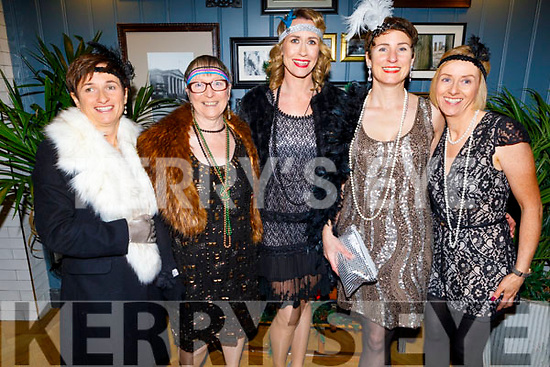 Staff of IT Tralee Health and Leisure at the Peaky Blinders Christmas party in the Ashe Hotel on Friday.<br /> L to r: Theresa Richardson, Elizabeth Brompton, Emer Foley, Bernadette Gilroy and Jackie Gallagher.