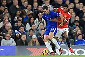 5th November 2017, Stamford Bridge, London, England; EPL Premier League football, Chelsea versus Manchester United; Andreas Christensen of Chelsea under pressure from Marcus Rashford of Manchester Utd