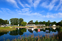 General View of 18th hole during the first round of the Lyoness Open powered by Organic+ played at Diamond Country Club, Atzenbrugg, Austria. 8-11 June 2017.<br /> 08/06/2017.<br /> Picture: Golffile | Phil Inglis<br /> <br /> <br /> All photo usage must carry mandatory copyright credit (&copy; Golffile | Phil Inglis)