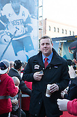 Albie O'Connell (BU - Assistant Coach) - The teams walked the red carpet through the Fan Fest outside TD Garden prior to the Frozen Four final on Saturday, April 11, 2015, in Boston, Massachusetts.