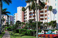 Barefoot Beach Club Resort condominium building on Barefoot Beach Road, Bonita Springs, USA.